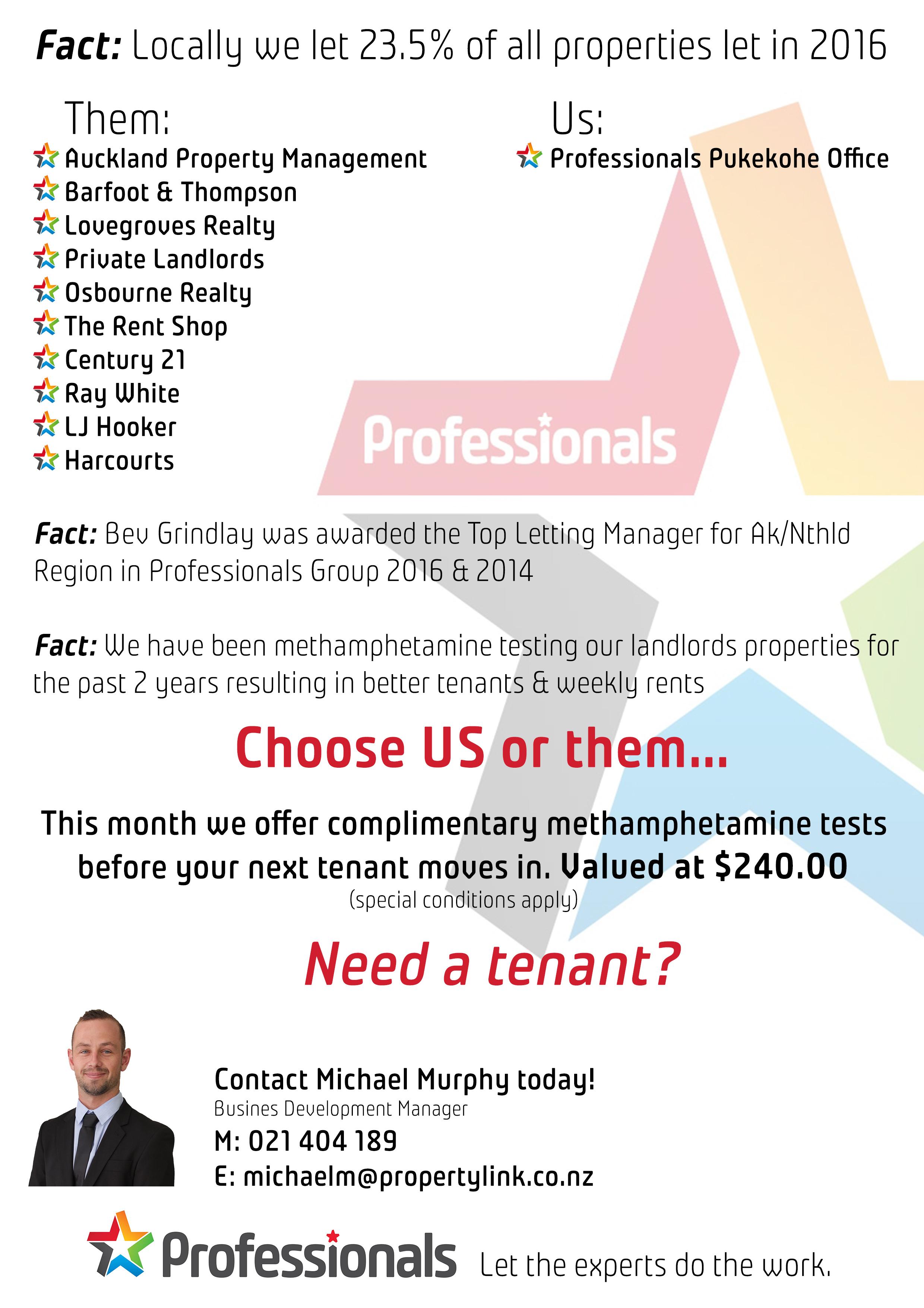 Choose us or them flyer - michael