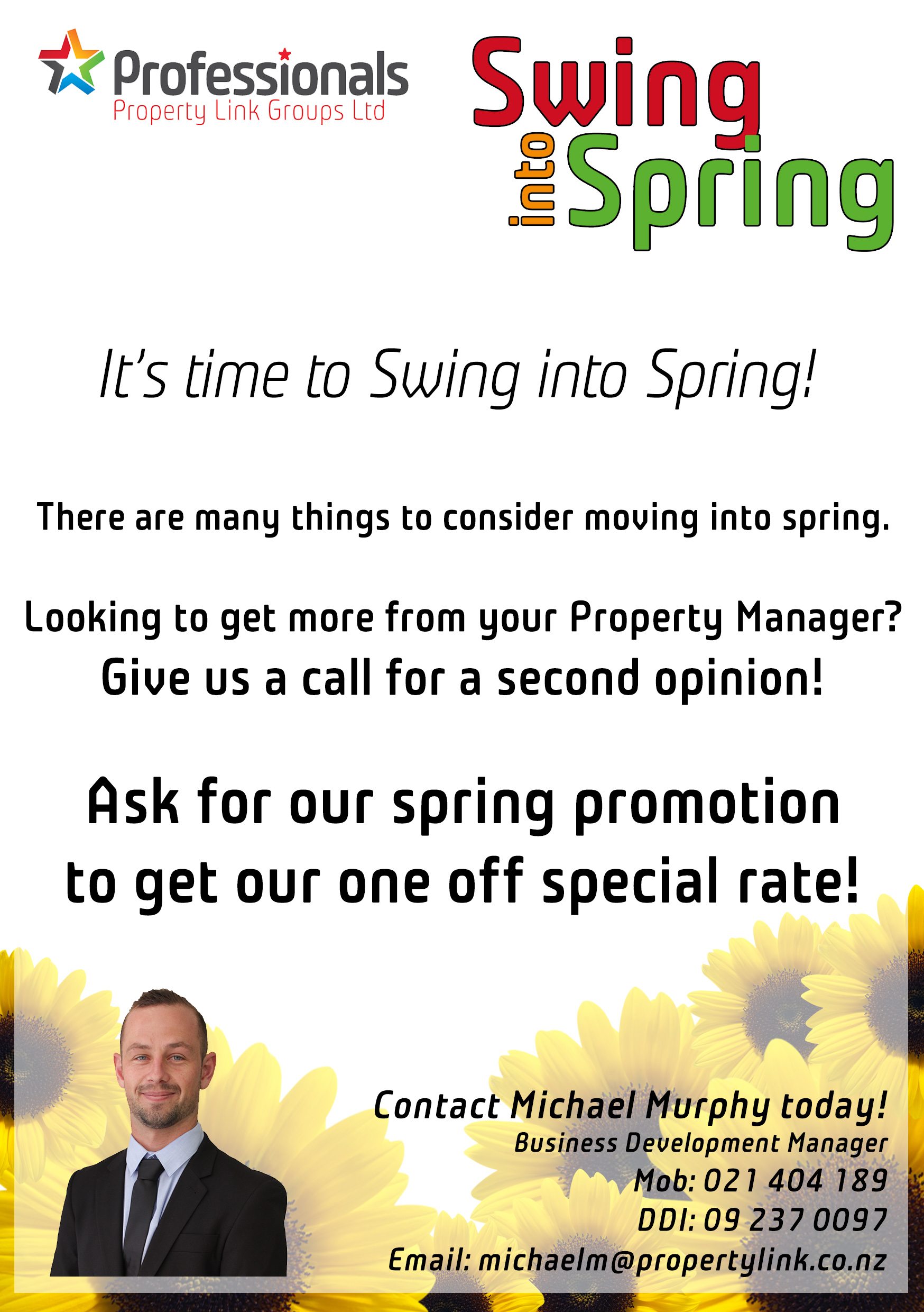 Property Management Special Rate Flyer